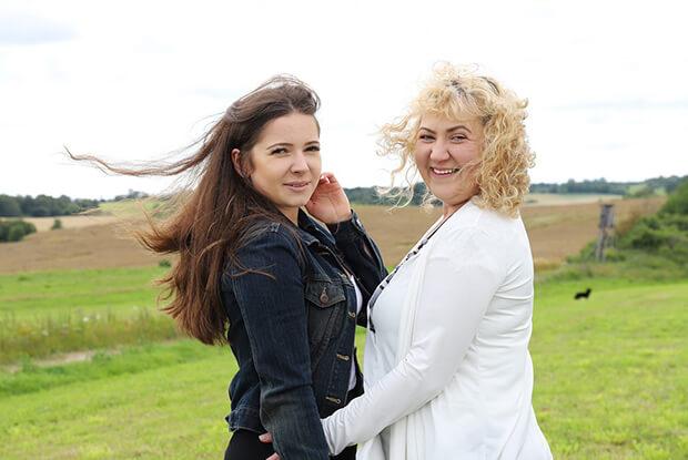 Pani Mirosława z córką Kasią, z Młynar